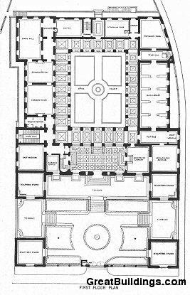 Great Buildings Drawing American Academy In Rome