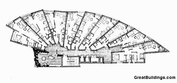 Great Buildings Drawing Flats At Bremen