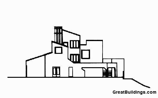 Great Buildings Drawing - Burns House