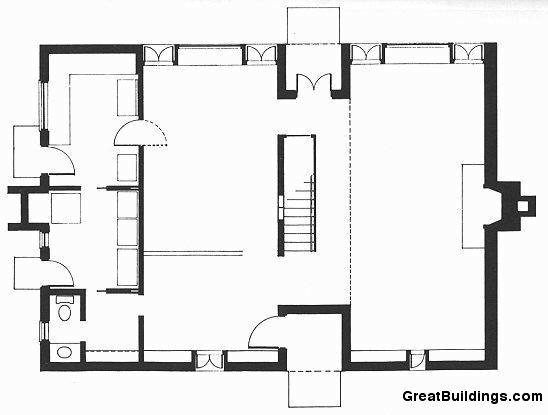 Great Buildings Drawing - Esherick House