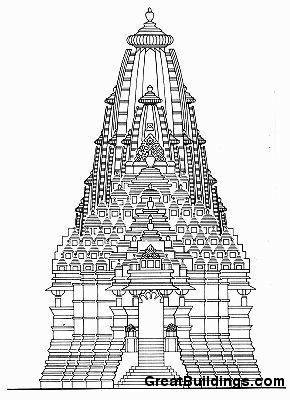 Great Buildings Drawing Kandariya Temple