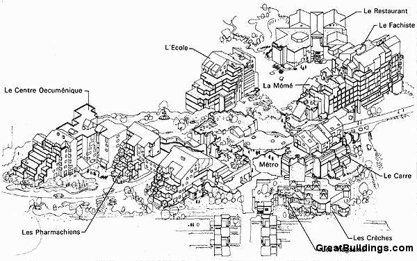 Great Buildings Drawing Medical Faculty Housing