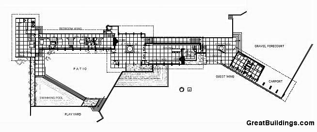 Frank Lloyd Wright Usonian House Floor Plans