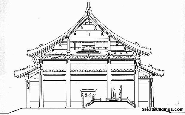 Great Buildings Drawing Taihe Dian