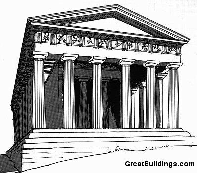Great Buildings Drawing Temple of Hephaestus