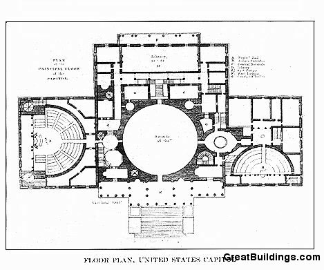 Great Buildings Drawing United States Capitol