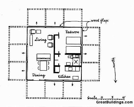 Great Buildings Drawing - Walker Guest House