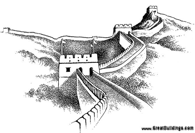Great Buildings Drawing The Great Wall Of China