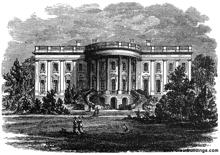 great buildings drawing the white house