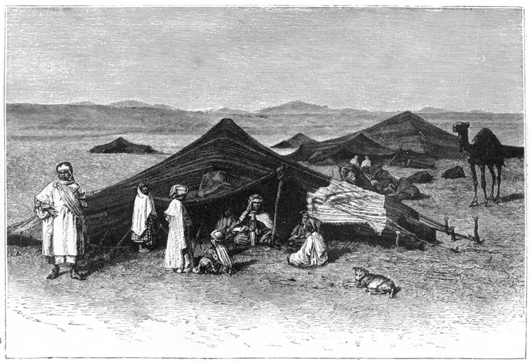 Engraving perspective overview eye level & Arab Tent - Vernacular - Great Buildings Architecture